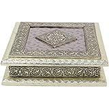 Aatmiya Dry Fruit Box, Serving Tray, Decorative Platter, Beautiful Snack Box With Meenakari Work(26 Square Shaped Dry Fruit Box)