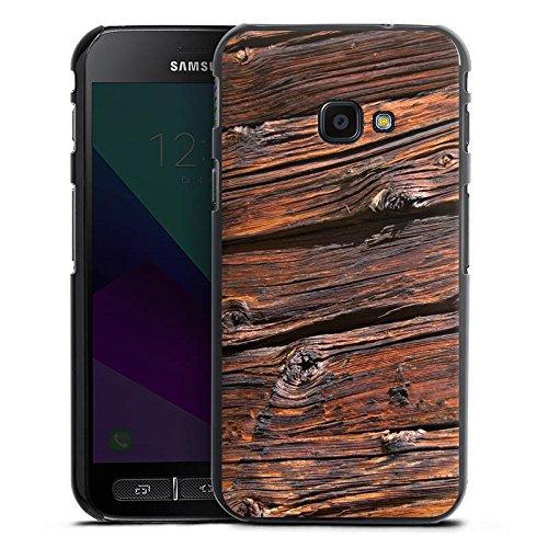 DeinDesign Samsung Galaxy XCover 4 Hülle Case Handyhülle Verwitterte Holzplanken Holz Look Holzboden