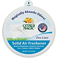 Citrus Magic Odor Absorbing Solid Air Freshener, Pure Linen, 8-Ounce, 6-Pack