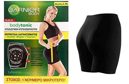 Garnier BodyTonic Lytess - Culotte magrezza dimagrante cellulite - caffeina incapsulato Colore nero S M