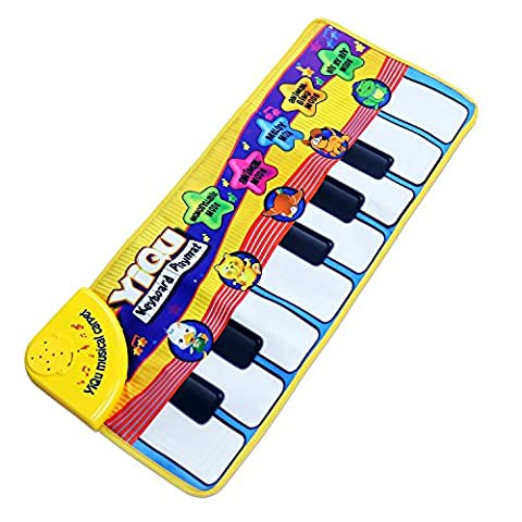 Musical Paino Mat, Musical Carpet Baby Toddler Activity Gym Play Mats ,Shayson Baby Early Education Music Piano Keyboard Blanket Touch Play Safety Learn Singing funny Toy for Kids …