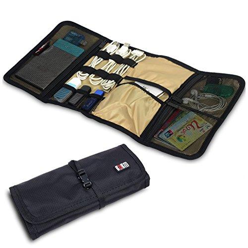 Damai Wrap Universaltasche Tragbare Tasche Elektronike Zubehöre für Reiseorganisator/Festplatte/Kabel (Schwarz)