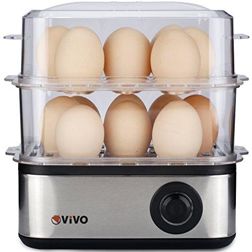 51WjuEi3gtL. SS500  - Vivo © Professional Electric 16 Egg Boiler Hard Soft Poached Cooker Omelette Maker Cook