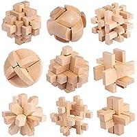 FOKOM 9pcs Calendrier de L'Avent Jeux de Casse-têtes Brain Teasers Puzzles IQ Test Toy