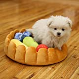 Alftek Cute Pet Dog Fruit Tart Bed Pad Keep Warm Kennel Cat Sleep Mat Nest House