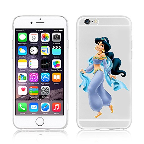 NEW DISNEY PRINCESSES TRANSPARENT CLEAR TPU SOFT CASE FOR APPLE IPHONE 8 PLUS - AREIL 3 JASMINE 1