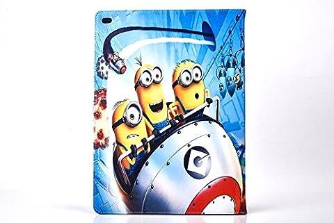 iPad 2,3,4 Minion Cas / Moi Moche et Mechant PU Cuir Intelligent Dessin Animé de (Childrens Naturali Mobili)