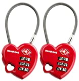 munkees cavo di lucchetto TSA-Lucchetto 3606a forma di cuore rosso Questo munkees TSA lucchetto è dotato di una volontà propria combinazione. Si deve solo le chiavi di combinazione password e non deve portare con sé. Si può chiudere con il cavo f...