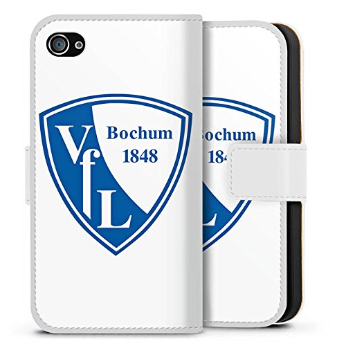 Apple iPhone X Silikon Hülle Case Schutzhülle VfL Bochum Fanartikel Fußball Sideflip Tasche weiß