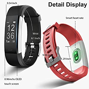 KG Physio   Premium Fitness Watch   Bluetooth Heart Rate Monitor, Pedometer, Sleep Tracker and Exercise Tracker   IP67 Waterproof Rated With A Touch Screen Display Designed For Android & IOS