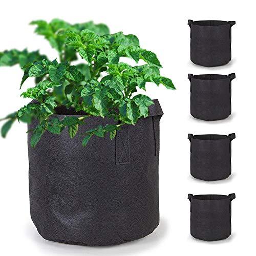 nzuchtbeutel, 1 Liter Pflanze, Gemüse, Sämlingbeutel, Garten Vlies-Pflanztopf mit Griff ()