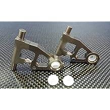 Tamiya TT-01D, TT-01 XB Pro Upgrade Parts Aluminium Front Upper Arm - 1Pr (Drift) Grey Silver