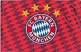 Flagge FC Bayern München Raute - 100 x 150 cm + gratis Aufkleber, Flaggenfritze®