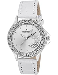 Decode Ladies Crystal Studded-LR-ST020-White-Strap Analog Watch - For Girls, Women
