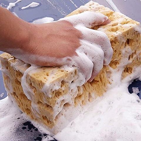 Lot de 2doux Corail éponge de lavage de voiture éponge Polyester pour le lavage et de nettoyage