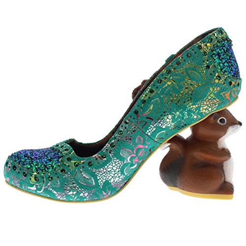 Irregular Choice Damen Nibbles Mcnutty Pumps Grün