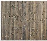 Wallario Herdabdeckplatte/Spritzschutz aus Glas, 1-teilig, 60x52cm, für Ceran- und Induktionsherde, Holzpaneelen in grau braun - Holzmuster mit Maserung