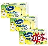 Zewa bewährt Kamille Toilettenpapier, weiches WC-Papier 3-lagig mit angenehmen Kamillen-Duft, 1 x Vorratspack mit 48 Rollen (3 x 16 Rollen)