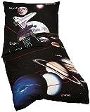 Bettwäsche Young Coll. Sonnensystem, Kopfkissenbezug 80x80cm, Bettbezug 135x200cm, Renforce, mit Marken-RV