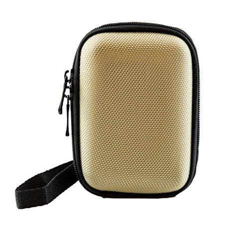 iProtect Universal Kamera Hülle Tasche extra stoßfest mit Schultergurt und Gürtelschlaufe in beige