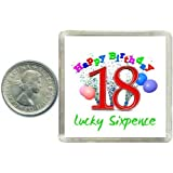 18th Birthday Lucky Sixpence Gift, Great good luck present idea for boy or girl