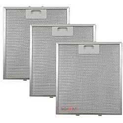 Lot de 3 filtres en aluminium pour hottes 267 x 305 x 9 mm, compatible Elica