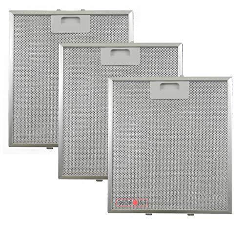 Kit de 3 unidades. Filtros de aluminio para campanas extractoras de 267...