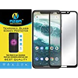 nzon 2.5D Curve Anti Fingerprint 0.33 mm 6D Edge to Edge Tempered Glass Screen Protector for Moto One Power (Black)