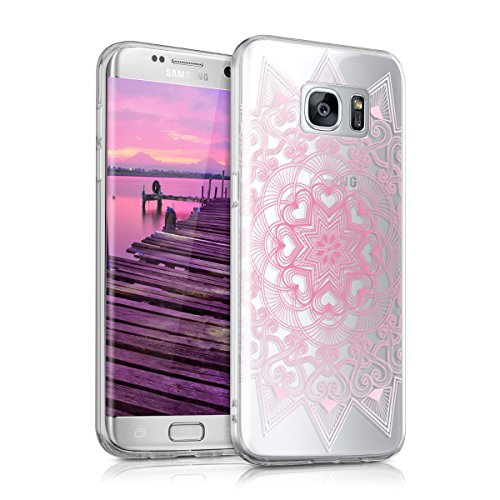 kwmobile-Hlle-fr-Samsung-Galaxy-S7-edge-TPU-Silikon-Backcover-Case-Handy-Schutzhlle-Cover-klar-Herzmuster-Design-Rosa-Wei-Transparent