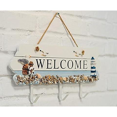 desy Mediterraneo orientale stile etichette/Welcome Welcome//Creative decorativa/gancio a gancio appendiabiti