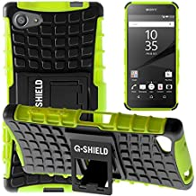 Funda Xperia Z5 Compact, G-Shield Carcasa Extremo Protección [Con Soporte] [Anti-Arañazos] [Anti-Choque] [Muy Resistente] Híbrida a Prueba de Golpes Case Cover Para Sony Xperia Z5 Compact - Verde