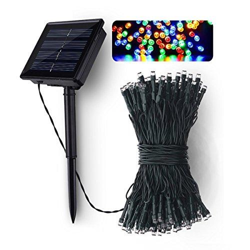 Fodsports solare all' aperto della stringa Luci/Giardino solare String luci 100LED, 12m, 4colori, adatto per giardino, Pathway, Natale o Matrimonio