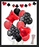 LUCK COLLECTION Casino Party Decorations Gioco Night Casino Cannucce Palloncini Banner per Forniture per Feste di Poker