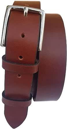 ESPERANTO Cintura in vero cuoio uomo e donna artigianale fibbia nichel free anallergica accorciabile-4 cm x 4 mm
