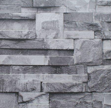Cunguang nero grigio muro di mattoni in rotolo di carta da parati in finta pietra per effetto della carta da parati rivestimenti murali