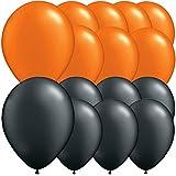 Tri-products - Paquet De 15 Assortiment Noir Et Orange Ballons En Latex. Décorations D'Halloween