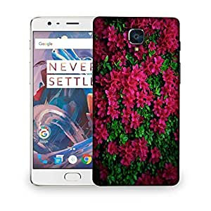 Snoogg Red And Green Leaves Designer Protective Phone Back Case Cover For OnePlus 3