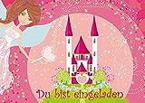 12 Prinzessinnen-Party-Einladungskarten / Geburtstagseinladungen Kinder zum Mädchen Kindergeburtstag von EDITION COLIBRI