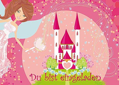 12 Prinzessinnen-Party-Einladungskarten (10662) zum Mädchen Kindergeburtstag von EDITION COLIBRI © - umweltfreundlich, da klimaneutral gedruckt