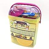 Tachan - Set menaje de cocina 55 piezas en cubo transportable, rosa (Tachan 7288407)
