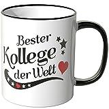 WANDKINGS Tasse, Spruch: Bester Kollege der Welt - SCHWARZ