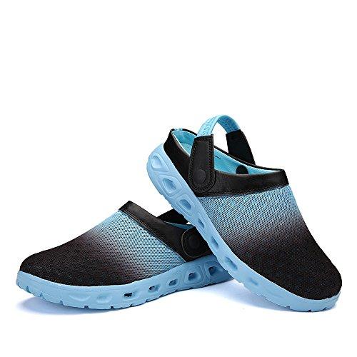 Bwiv Unisex Mesh Clogs Umweltfreundlich Leicht EVA Sohle Mit Schuhe Tasche Größenbereich 36 bis 46 Licht Blau
