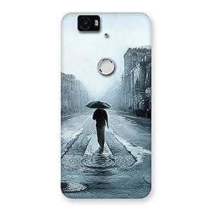 Premium Beautiful Walking Rain Multicolor Back Case Cover for Google Nexus-6P
