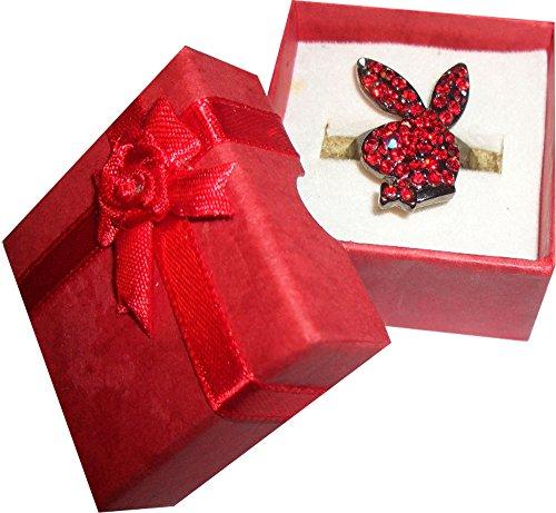 playboy-bunny-rosse-pietre-swarowski-unisex-misura-regolabile-dimensioni-in-cm-bunny-25-x-16-diametr