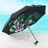 SX-ZZJ Parapluie coupe-vent, Parasol Protection UV Parapluie Parapluie Ultraléger Pluie et Pluie Pare-soleil Parapluie Noir (Couleur : A)