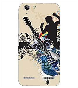 PrintDhaba Guitar D-4113 Back Case Cover for LENOVO VIBE K5 (Multi-Coloured)