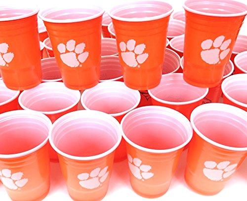 Clemson Tigers 54Partybecher Grill Cookut 4. Juli Große Kunststoff Colorful 18oz, Spiel Tag Kunststoff Jumbo Tassen. (4. Von Juli-party-spiele)