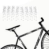 style4Bike Fahrrad Aufkleber Geckos mit Fußspuren Rahmen Sticker Tiermotive Fußabdrücke | S4B0070