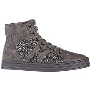Hogan Rebel Sneakers Alte r141 Bambino Piombo 35 EU