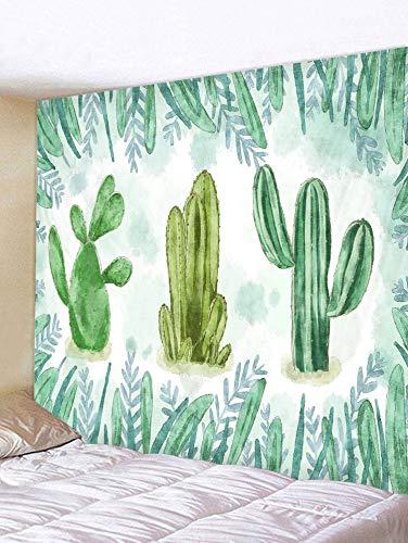 Wandteppiche Tapisserie Wandbehang Tapisserie Nordic Style Pflanze kleine frische Schlafzimmerdekoration, handbemalte Kakteen,150 * 130cm